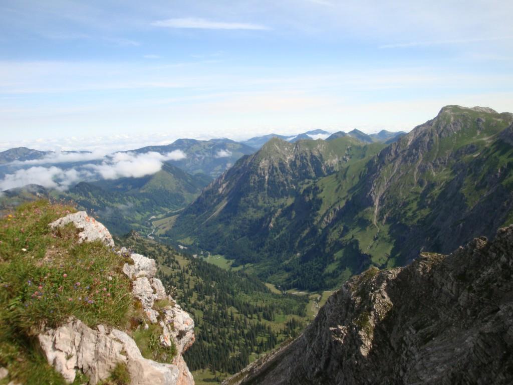 Aussicht vom Nebelhorn
