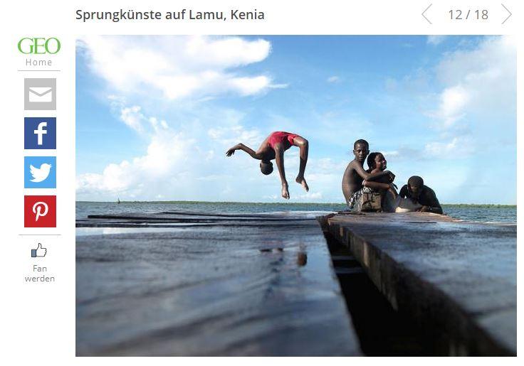 Sprungkünste aus Lamu, Kenia