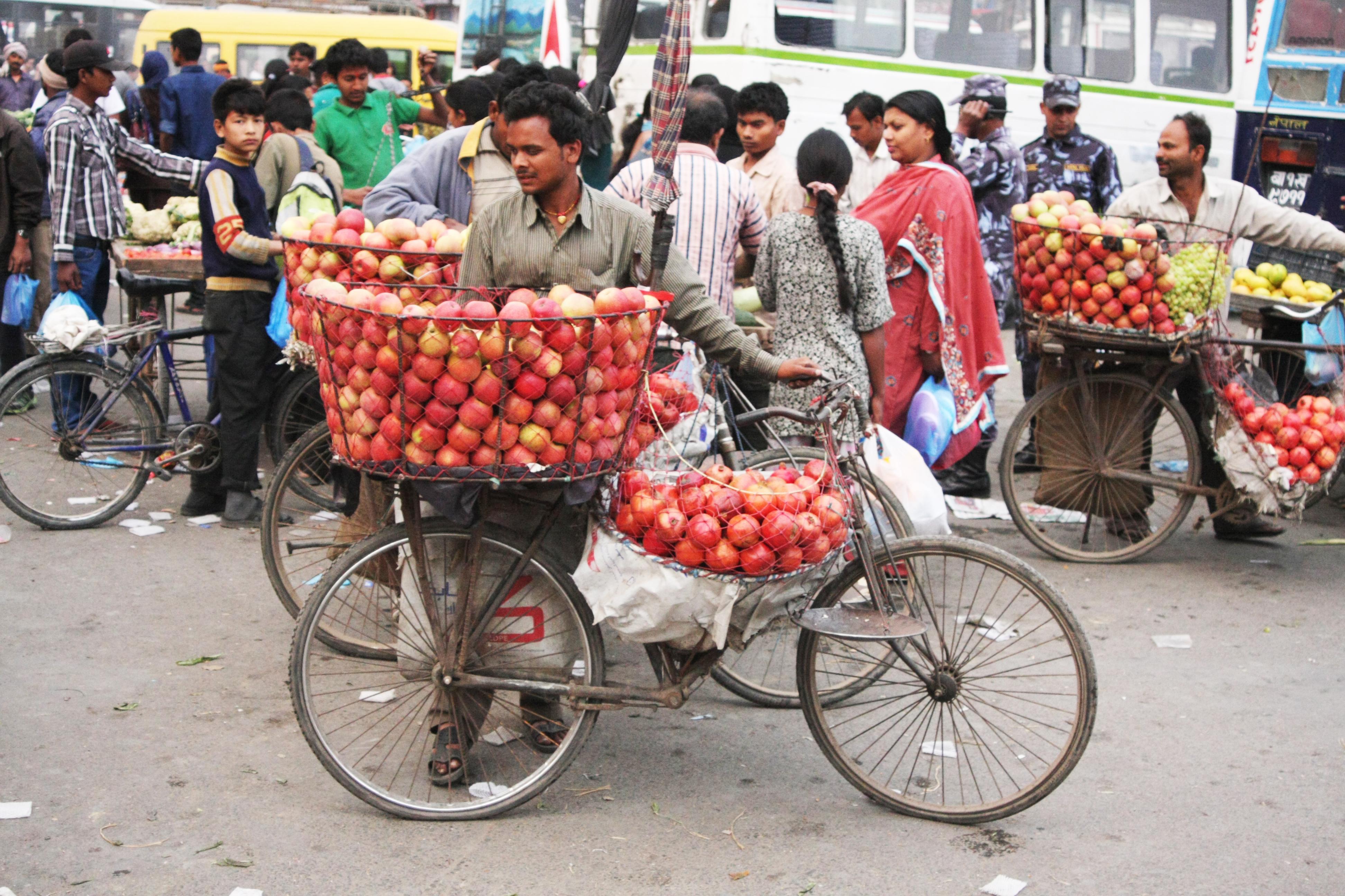 Apfelverkäufer Kathmandu