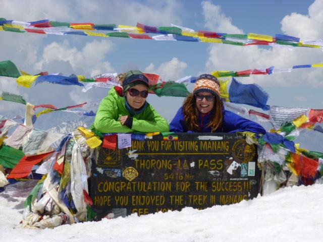 Annapurna Circuit. Der höchste Punkt: Thorong La Pass (5.416m).