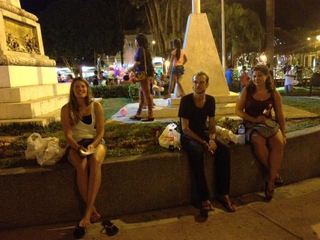 Am Plaza de Armas in Iquitos