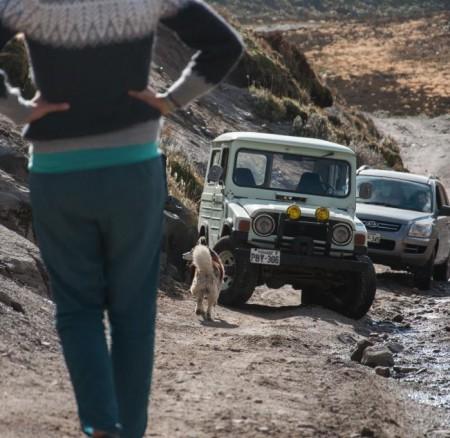 Jeep-Panne in Cayambe (Bilder)