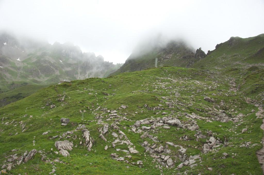 Aussicht aus der Mindelheimer Hütte